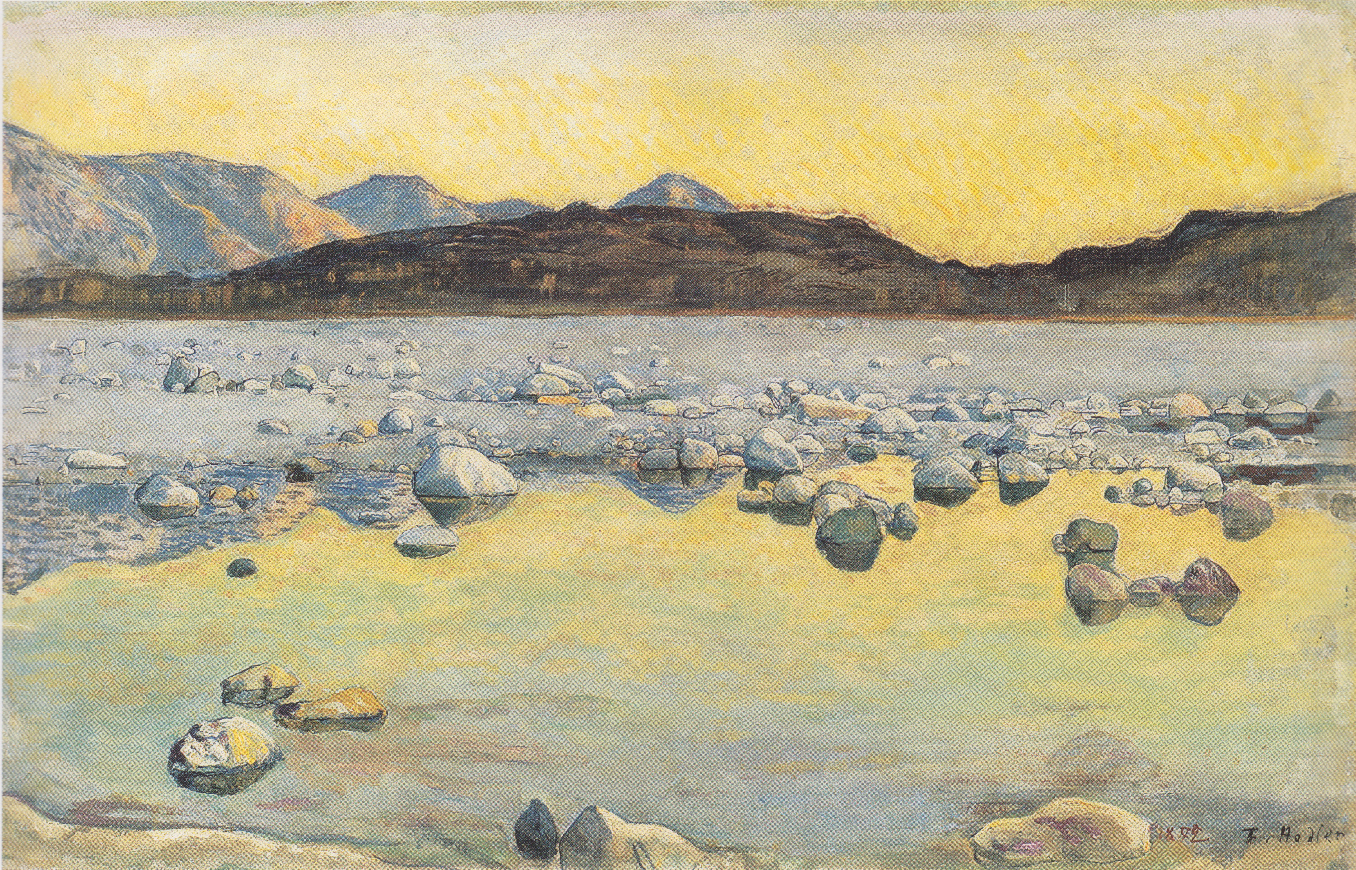 Hodler_-_Maggiadelta_vor_Sonnenaufgang_-1893