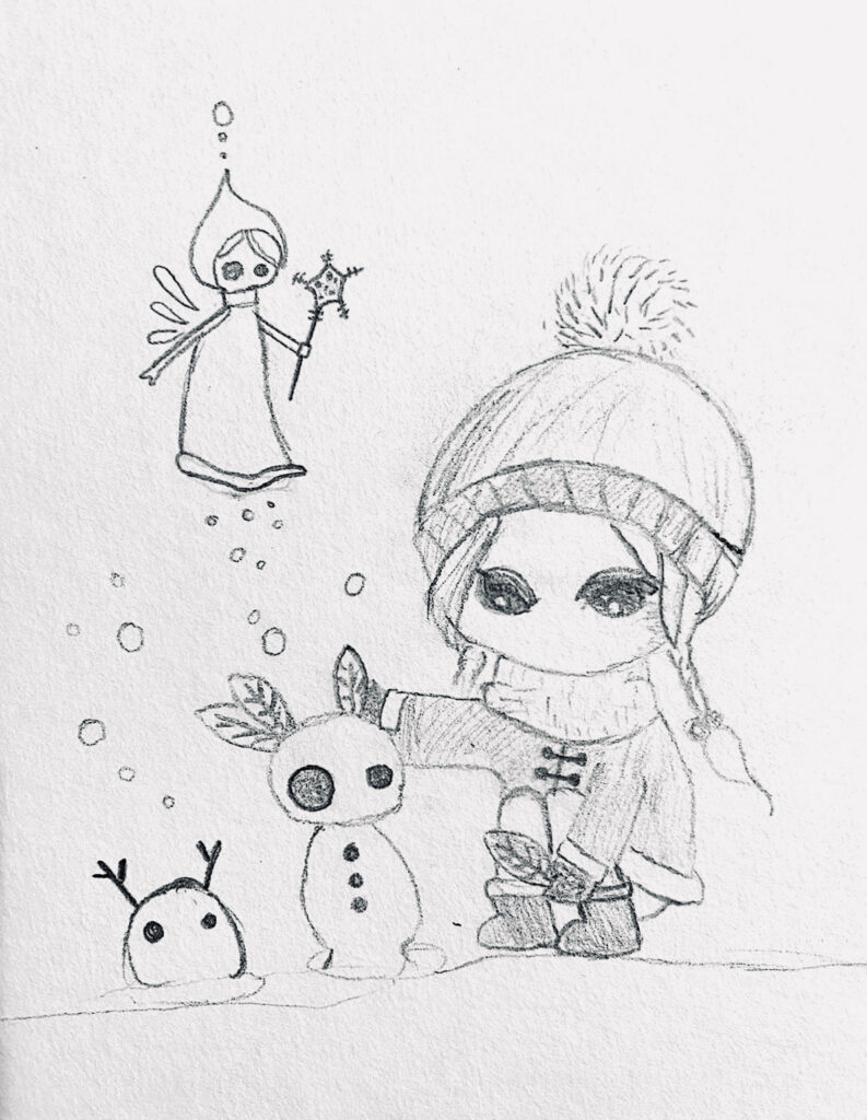 Emma 9J Bleistift Zeichnung Online Kurs Feb 21