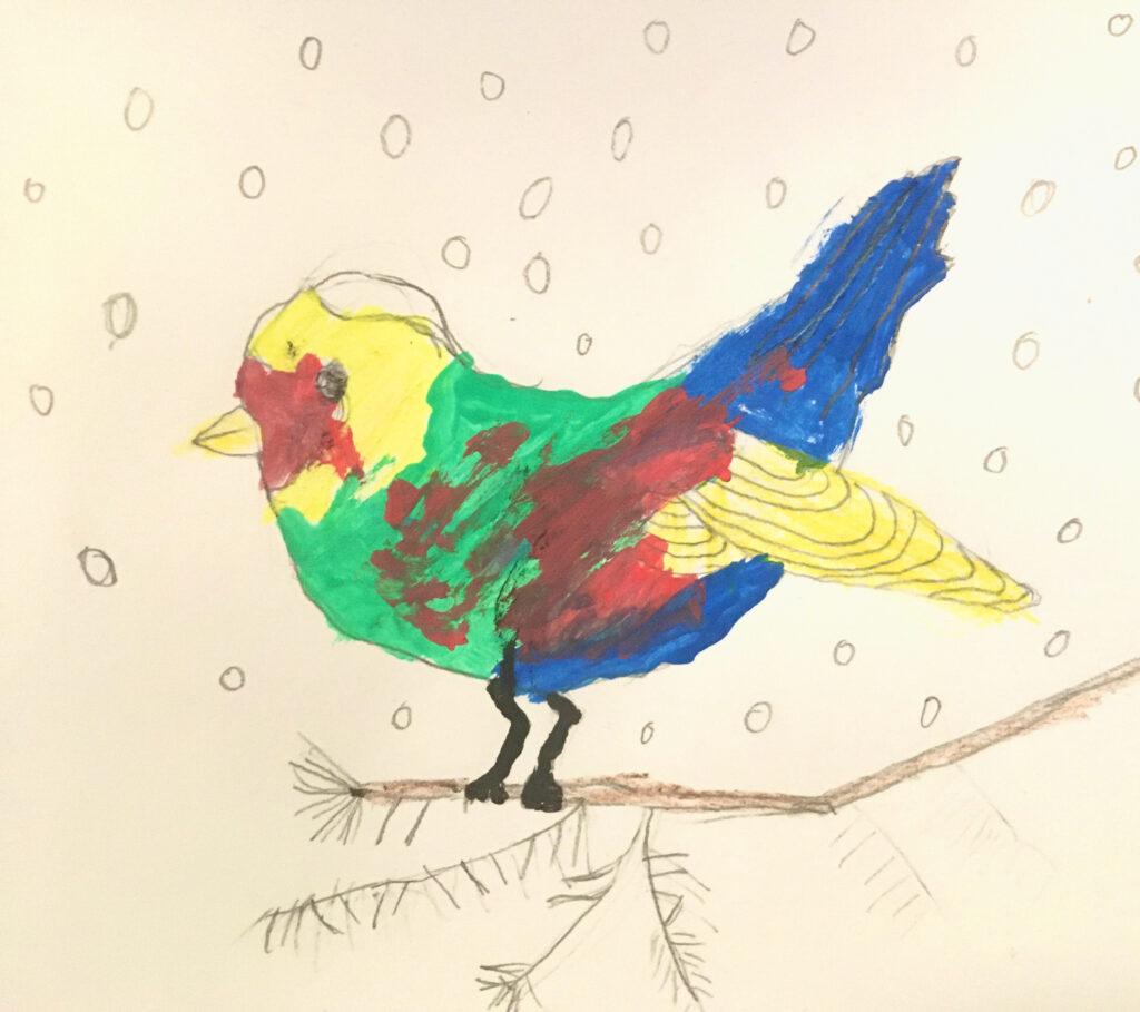 Kinder Zeichnen Vogel Bleistift Jugend Kunstschule Berlin Aquarell